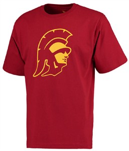 USC Trojans Cardinal Trojan Head Short Sleeve T Shirt on Sale