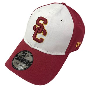 USC Trojans Classic Twill White/Cardinal Adjustable Slouch Cap