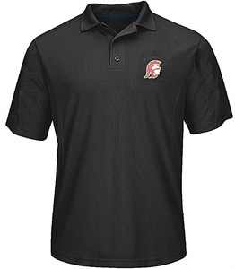 USC Trojans Mens Black Embroidered Trojan Head Synthetic Polo Shirt by 289c on Sale