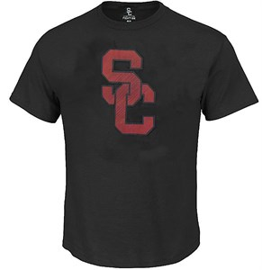 USC Trojans Mens Black Vortex Polyester T Shirt by 289c on Sale