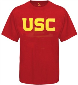 USC Trojans Mens Cardinal Wordmark Short Sleeve T Shirt by 289c Apparel on Sale