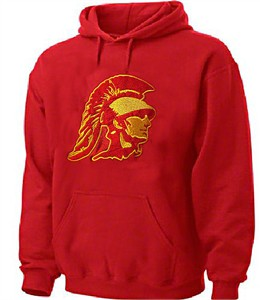 USC Trojans Mens Cardinal Embroidered Cinder Hoodie Sweatshirt on Sale