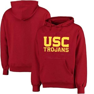 USC Trojans Mens Crimson Embroidered Campus Classic Hoodie Sweatshirt