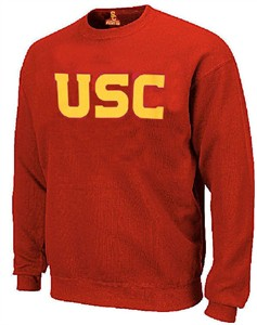 USC Trojans Mens Screened Wordmark Crew Sweatshirt on Sale
