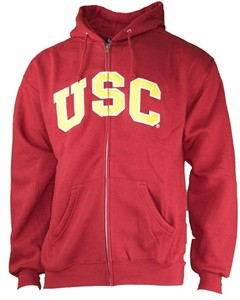 USC Trojans Mens Wordmark Full Zip Applique Hoodie Sweatshirt by 289c