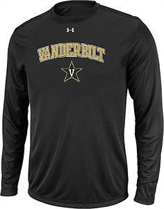 Vanderbilt Commodores Black  NuTech Long Sleeve Shirt by Under Armour on Sale