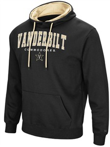 Vanderbilt Commodores Mens Black Zone 3 Embroidered Pullover Hoodie Sweatshirt on Sale