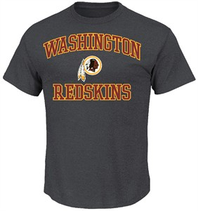 Washington Redskins Charcoal Heart & Soul II T-Shirt by VF