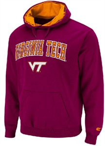 Virginia Tech Hokies Embroidered Automatic College Hooded Sweatshirt by Colosseum