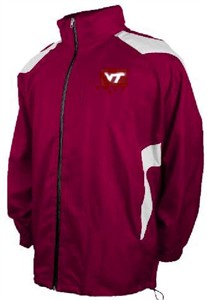 Virginia Tech Hokies Light Weight Pack Away Full Zip Jacket on Sale