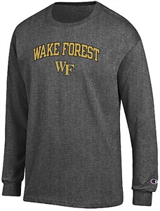 Wake Forest Demon Deacons Granite Heather Champion Campus Long Sleeve Tee Shirt