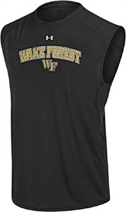 Wake Forest Poly Dry HeatGear NuTech Sleeveless Shirt by Under Armour