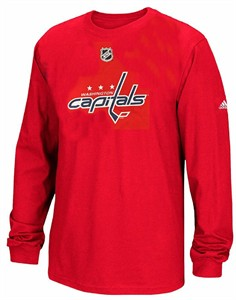 Washington Capitals Men's Red Adidas Primary Position Performance T Shirt