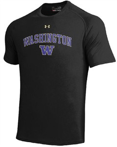 Washington Huskies Black Poly Dry HeatGear NuTech Performance Shirt by Under Armour