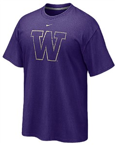 Washington Huskies Distressed Logo T Shirt by Nike