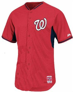 Washington Nationals Cool Base Embroidered  Batting Practice Jersey by Majestic