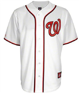 on sale dace2 27dc1 Washington Nationals Embroidered Home Replica Baseball ...