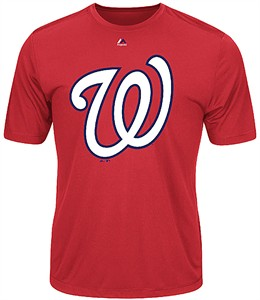 Washington Nationals Majestic Synthetic Official Logo Short Sleeve Tee Shirt