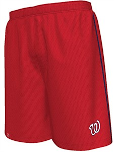 Washington Nationals Red Rush to Victory Mesh Shorts by Majestic