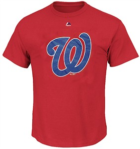 Washington Nationals Red Skills Test Synthetic Performance T Shirt by Majestic