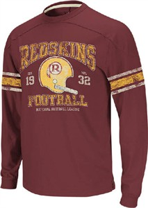 bde9a329 Washington Redskins 11 Crimson Vintage Applique Long Sleeve Shirt by ...