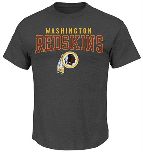 Washington Redskins Majestic Charcoal Red Zone Opportunity Tee Shirt