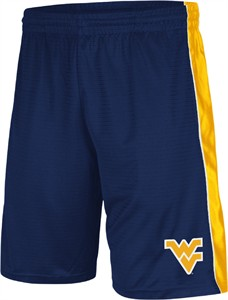 West Virginia Mountaineers Blue 10 Inch Inseam Layup Synthetic College Shorts by Colosseum