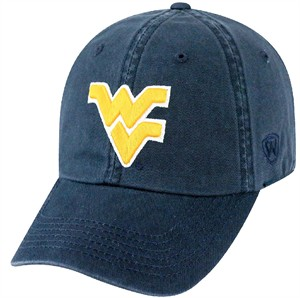 West Virginia Mountaineers Blue Relaxed Crown Crew Adjustable Hat