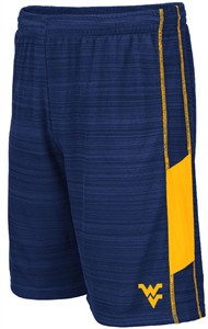 West Virginia Mountaineers Blue WeWak Synthetic Athletic Shorts