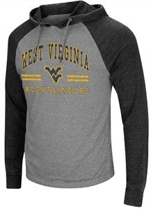 West Virginia Mountaineers Charcoal Personal Flair Hoodie Long Sleeve T Shirt
