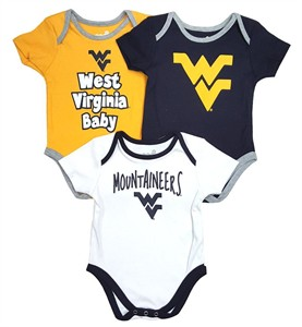 West Virginia Mountaineers Infant & Toddler Moms Choice 3 Pack Creeper Set