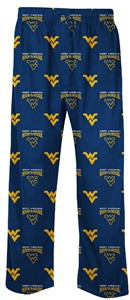 West Virginia Mountaineers Men's Supreme Navy Pajama Pants