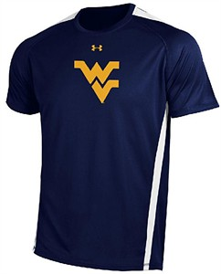 West Virginia Mountaineers Poly Dry HeatGear Zone IV Under Armour Shirt
