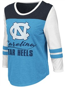 Women's UNC Tarheels  Scoop Neck 3/4 Quarter Sleeve Palermo T Shirt