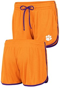 Women's Clemson Tigers Orange Toulon Synthetic Athletic Shorts