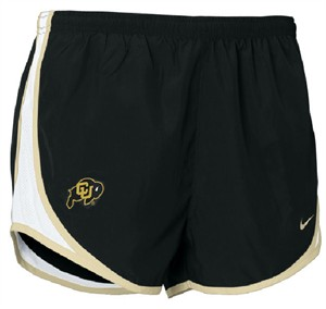 Women's Colorado Buffaloes Dri FIT Tempo Running Shorts by Nike on Sale