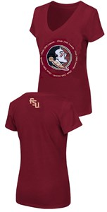 Women's Florida State Seminoles Slim Fit Garnet V Neck T Shirt