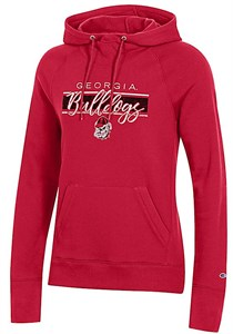 Women's Georgia Bulldogs Red Champion University 2 Hoodie Sweatshirt