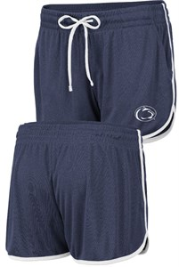 Women's Penn State Nittany Lions Blue Toulon Synthetic Athletic Shorts