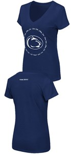 Women's Penn State Nittany Lions Slim Fit Blue V Neck T Shirt