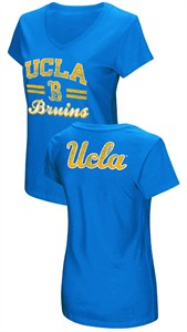 Women's UCLA Bruins Junior Sized Sport Royal Hurdle V Neck T Shirt