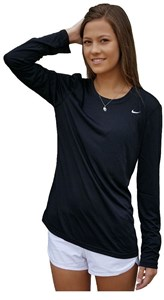 Womens Long Sleeve Poly Legend Top by Nike