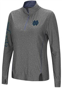 Juniors Notre Dame Fighting Irish Charcoal Slim Fit Vizzini 1/4 Zip Synthetic Wind Shirt