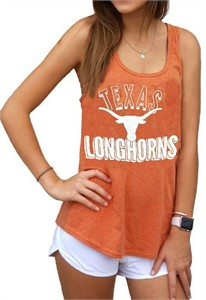 Womens Texas Longhorns Texas Orange Poult Tank Top Shirt by 289c apparel