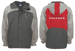 pretty nice d6a65 82f7d Youth Reebok Atlanta Falcons NFL Midweight Hooded Jacket ...