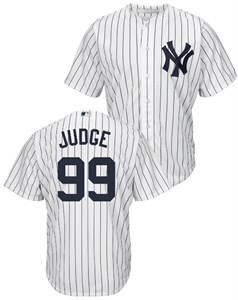new concept 9ad1a 3789e Youth Aaron Judge New York Yankees {Poly Pinstripe Tackle ...