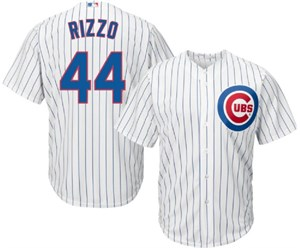 Youth Anthony Rizzo Chicago Cubs Cool Base Pinstripe Tackle Twill Baseball Jersey