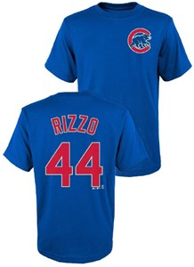 Youth Anthony Rizzo Chicago Cubs Royal Player Name T Shirt