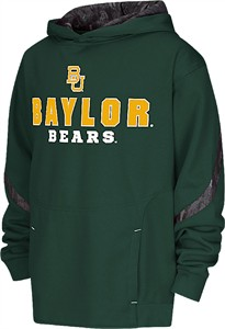 Youth Baylor Bears Cutter Embroidered Synthetic Hoodie Sweatshirt