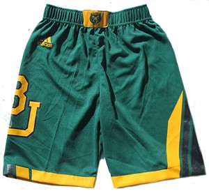Youth Baylor Bears Green Replica Basketball Shorts by Adidas